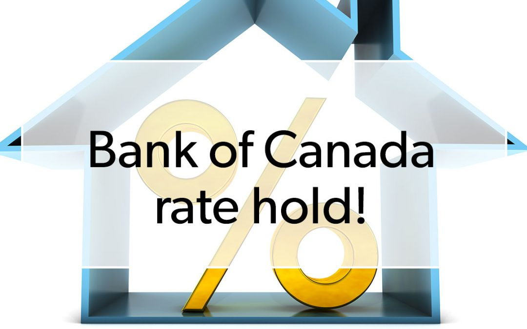 Bank of Canada Announces a Rate Hold
